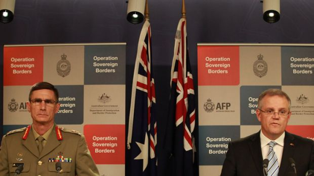 Lieutenant-General Angus Campbell with Scott Morrison.