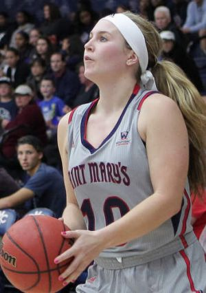 Rising star: Kate Gaze has made a big impression in US college basketball at St Mary's.