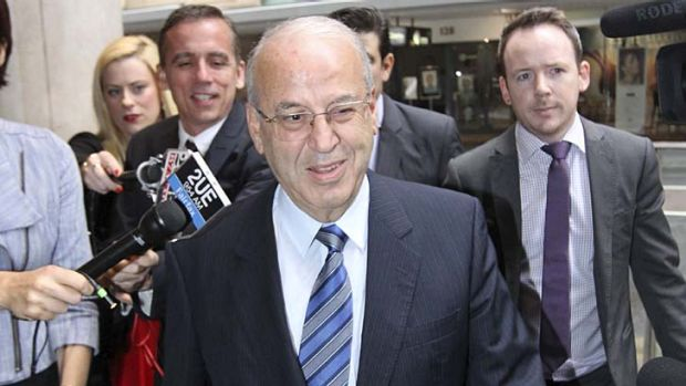 Confident: Eddie Obeid arrives at the ICAC inquiry.