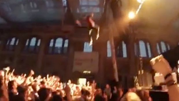 Rapper George Watsky's 10m stage dive.