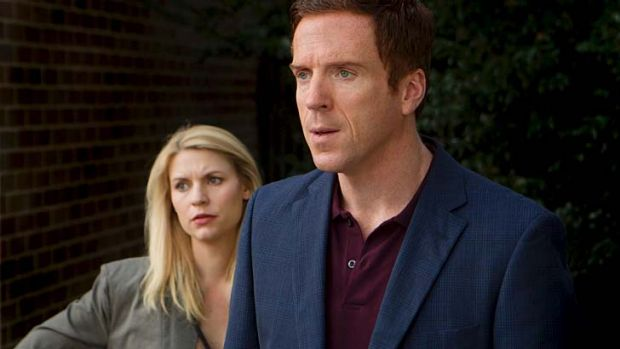 Tightly plotted: Homeland's Claire Danes as Carrie and Damien Lewis as Nick Brody.