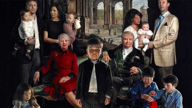 The Royal Danish Family portrait by Thomas Kluge unveiled over the weekend. <b><a ...