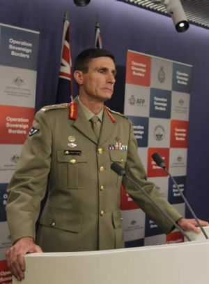 Normal practice: Borders Commander, Lieutenant General Angus Campbell.