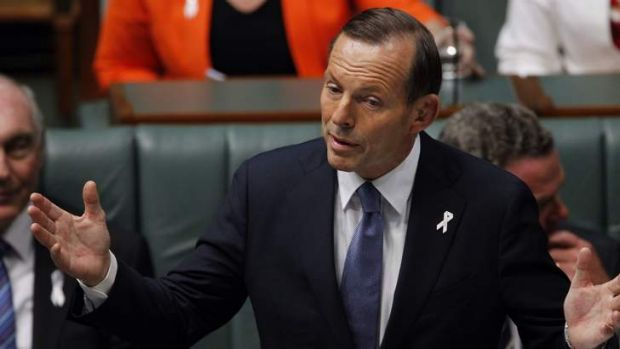 Under pressure to reconcile: Prime Minister Tony Abbott.
