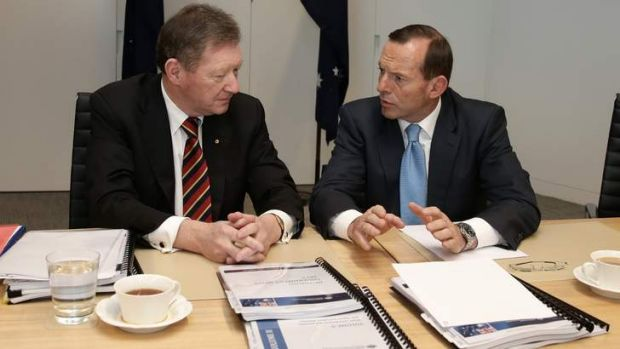 Tony Abbott and Dr Ian Watt, Secretary of the Department of the Prime Minister and Cabinet.
