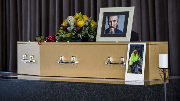 The funeral of Canberra window washer Lindsay Mitchell.