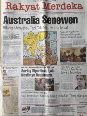 The diplomatic row has been widely reported in the Indonesian media.