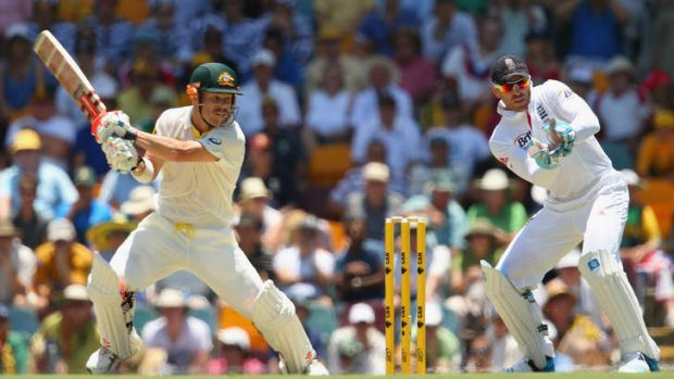 David Warner has been strong through the off-side in the opening session.
