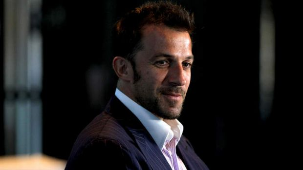 Happy days: Italian star Alessandro Del Piero loves life in Sydney.