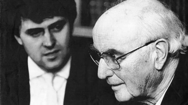Author Peter Wright [right] challenged the disclosure of secret information under the right of public interest.