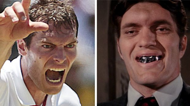 Separated at birth?: Chris Tremlett and Jaws.
