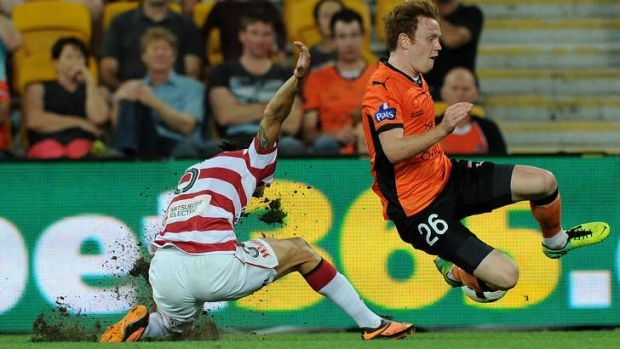 Heavyweight clash: The high-flying Roar and Wanderers are among the A-League's top drawcards.