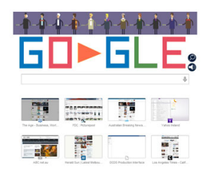 Google celebrates Dr Who's 50th anniversary.