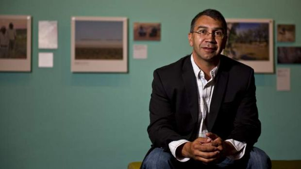 Ngambri custodian Paul House at the launch of the exhibition <em>On Country</em> at the National Museum of Australia.