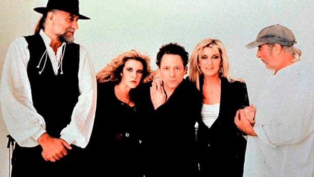 Fleetwood Mac in 1997. Christine McVie is second from right, and John McVie far right.