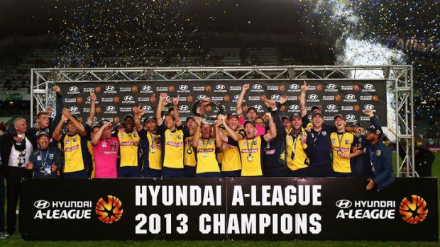 The Mariners celebrate winning the 2013 Grand Final.