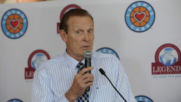 NBA Hall of Famer and one of the NBA's 50 greatest players of all-time Rick Barry speaks at a National Basketball ...