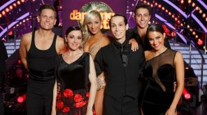The three grand finalists of season 13 of Dancing With The Stars - Tina Arena, Cosentino and Rhiannon Fish.