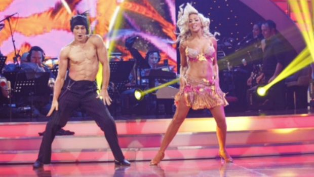 Cosentino and Jessica perform in the Judges Choice round during the Dancing With The Stars finale.