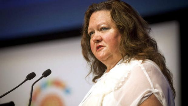 Coming to your living room soon: Gina Rinehart.