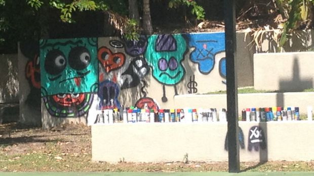 Graffiti left by Justin Bieber at his Gold Coast hotel after his first Australian concert.