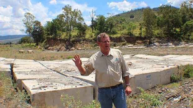 Chief executive of SEQ Catchments, Simon Warner, explains how attempts to control the path of Blackfellow Creek have failed.