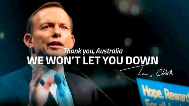 A post-election advertisement from the Coalition.
