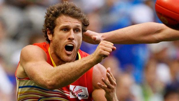 Fading Sun .... Campbell Brown's AFL career is now in jeopardy.