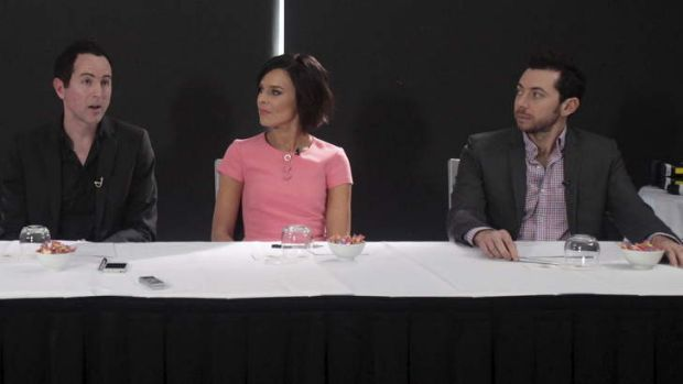 Ten producer Adam Boland with Natarsha Belling and James Mathison of <i>Wake Up</i> team.