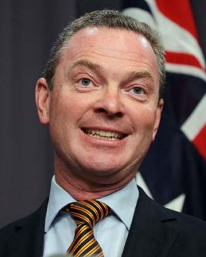 Under fire: Education Minister Christopher Pyne.