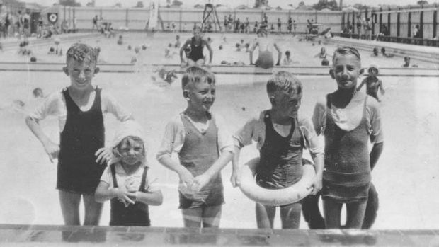 The place to be: Children swim at the Bankstown Pool.