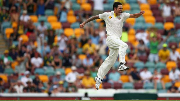 Match winner: Mitchell Johnson has made a stunning start to the Ashes and is enjoying bowling again, especially taking ...