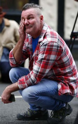 A regular at the Clutha pub reacts to the crash site.