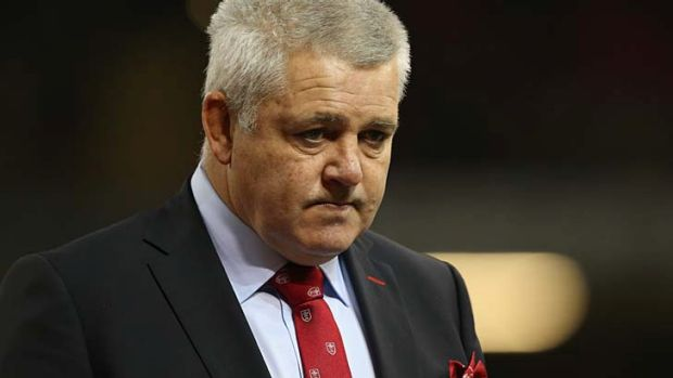 Frustrated: Wales coach Warren Gatland.