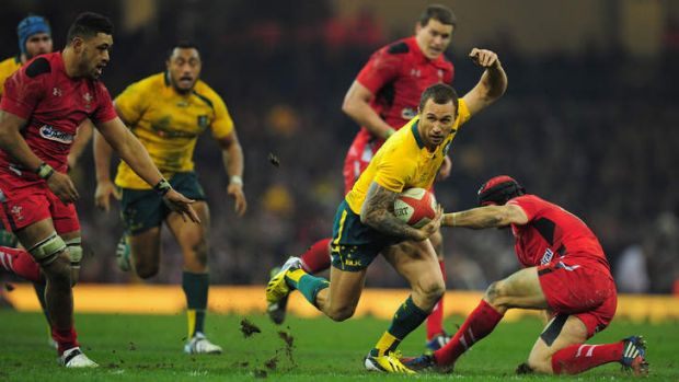 """High ambition: """"I feel this tour has put us ahead of where we thought we would be,"""" says Quade Cooper."""