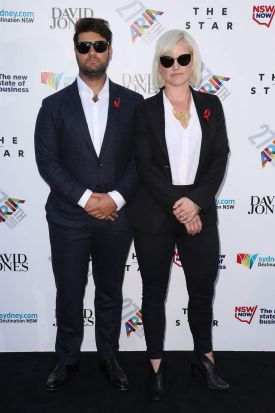 Sam Ford and Abbe May arrive at the 27th Annual ARIA Awards.