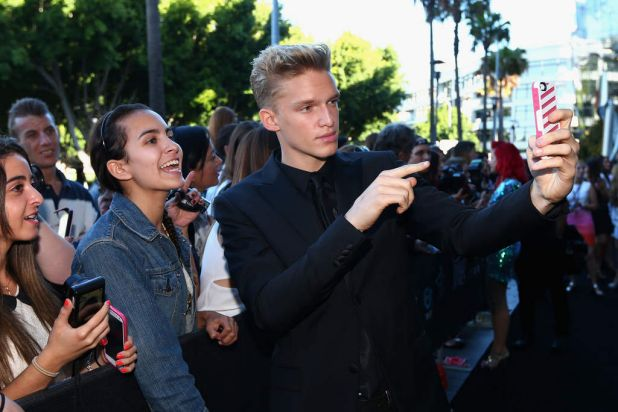 Cody Simpson with fans on arrival at the 27th Annual ARIA Awards.