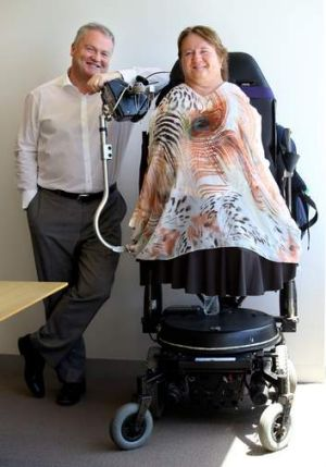 """""""I never thought this day would come"""": Monica McGhie with lawyer Peter Gordon."""