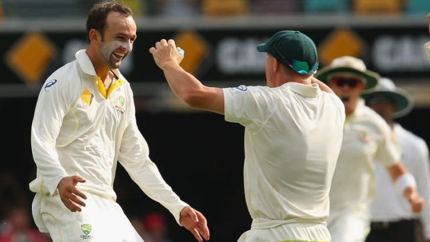 Confident: Nathan Lyon is looking forward to seeing what the Adelaide wicket will offer during the second Test, which ...