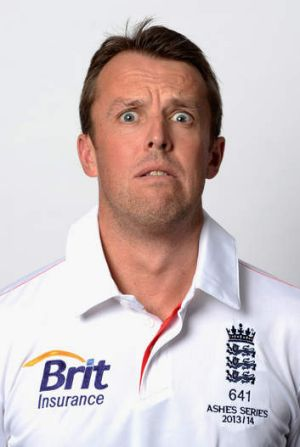 All the help he can get: England's Graeme Swann.