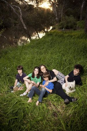 Family time … Josephine Yeatman with her four children (left to right), Esther, Raphael, Ambrose and Miles.