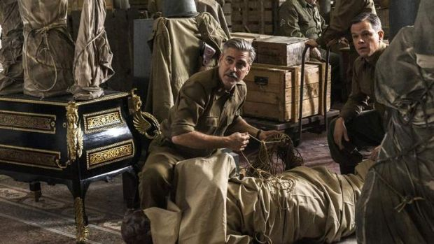 George Clooney and Matt Damon head an all-star cast in <i>The Monuments Men</i>.