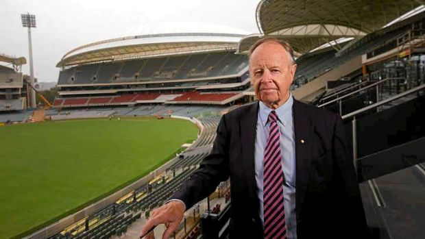 Fresh field: Ian McLachlan, Stadium Management Authority Chairman at the redeveloped Adelaide oval, which now has a ...