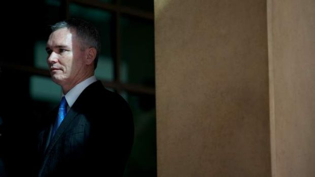 Craig Thomson at an earlier Melbourne Magistrates Court hearing.