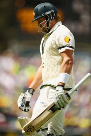 Half way there: Shane Watson's 51 may have been a valuable contribution but the former opener knows it is centuries that ...