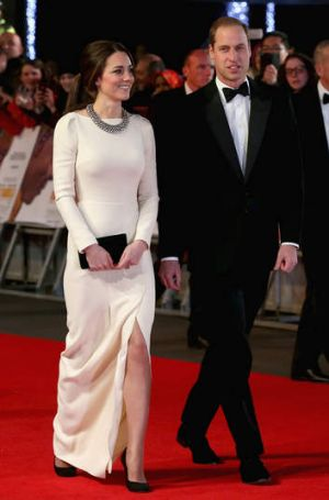Britain's Prince William and his wife Catherine, Duchess of Cambridge, on the red carpet for <i>Mandela: Long Walk to ...