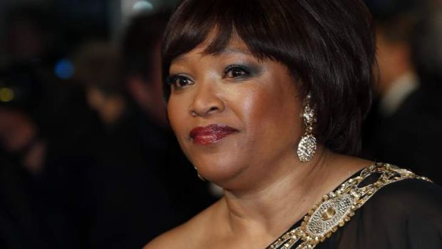 Zindzi Mandela, daughter of former South African president Nelson Mandela, at <i>Mandela: Long Walk to Freedom</i> ...