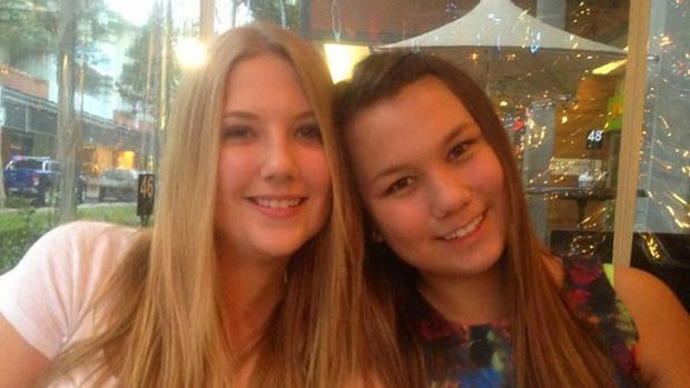 Year 7 students Teagan Lloyd, left, and Skye Keenan who have been missing since Wednesday.