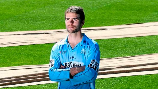 Mind over matter: NSW wicketkeeper-batsman Ryan Carters at the SCG.