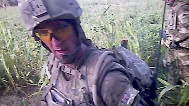 Sergeant Alexander Wayne Blackman seen in the footage filmed on a head camera worn by another marine.